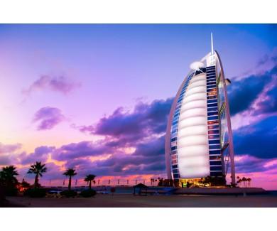 Фотообои Отель Бурдж аль-Араб на закате
