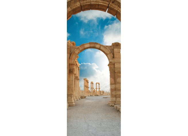 Наклейка на дверь Аллея Арок в Пальмире, Сирия