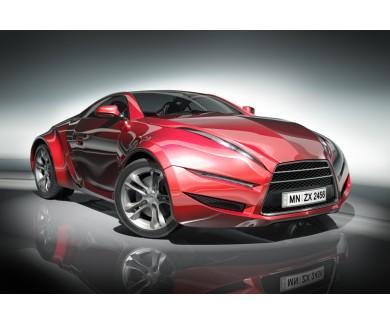 Фотообои Красный спортивный автомобиль