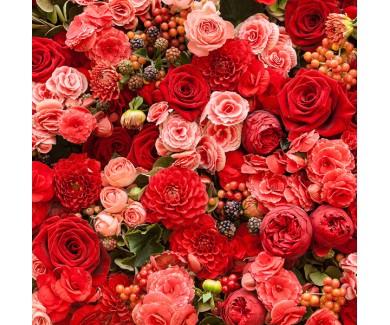 Фотообои Абстрактный фон из цветов