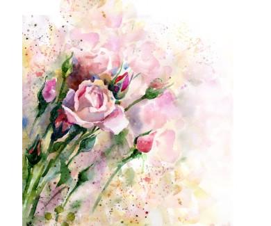 Фотообои Красивая акварель - Роза