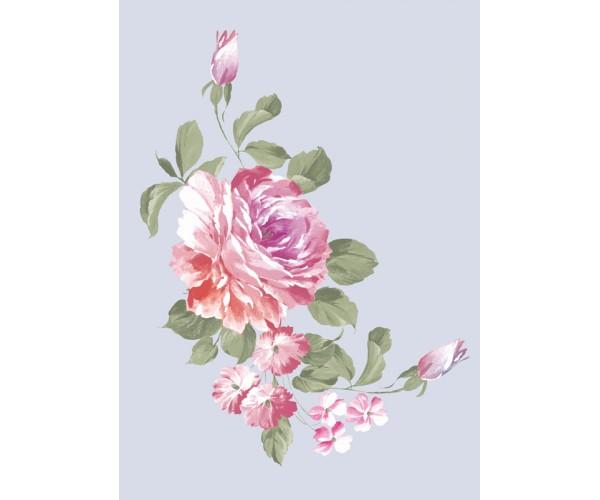 Фотообои Красивая роза на простом фоне