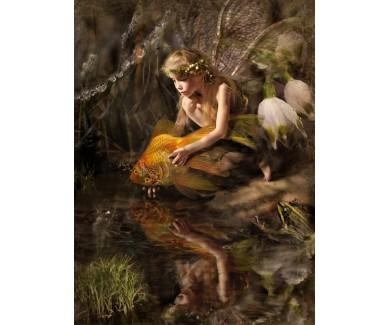 Фотообои Эльф и Золотая рыбка