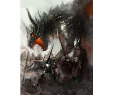Фотообои Рыцари, охота на дракона