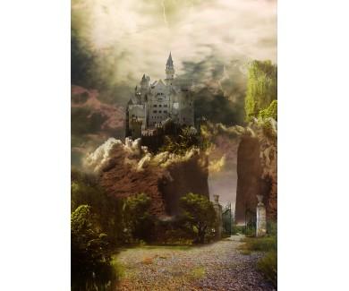 Фотообои Сказочный пейзаж с замком ворота