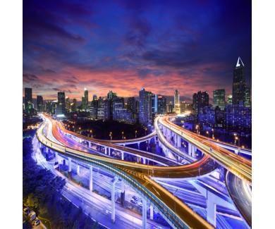 Фотообои Город Шанхай на закате