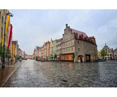 Фотообои Улица в баварском городке под Мюнхеном