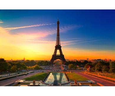 Фотообои Закат солнца в Париже