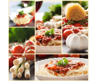 Фотообои Коллаж - спагетти