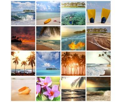 Фотообои Коллаж - тропический пляж