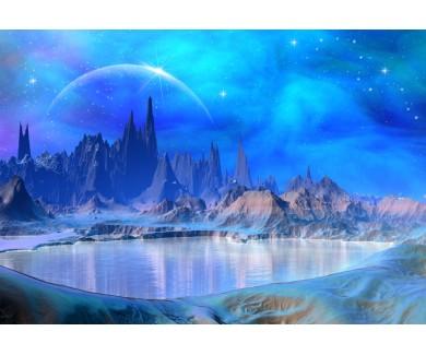Фотообои Мир фэнтези, горы и вода