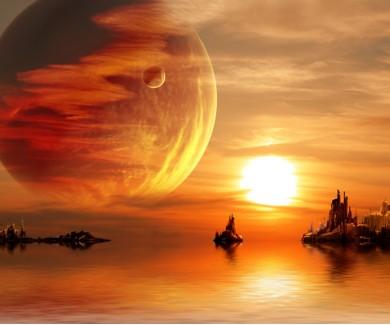 Фотообои Пейзаж фантастической планеты