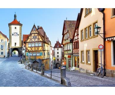 Фотообои Старая улица в Ротенбург-на-Таубере, Германия