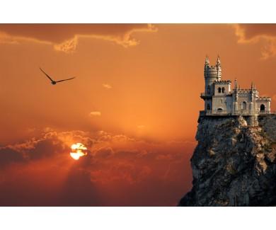 Фотообои Замок Ласточкино Гнездо на закате