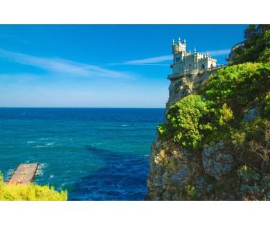 Фотообои Замок Ласточкино гнездо с видом на море