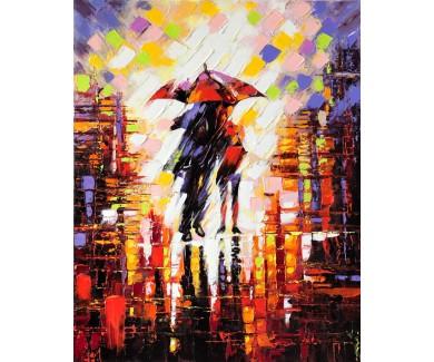 Фотообои Двое влюбленных под зонтиком