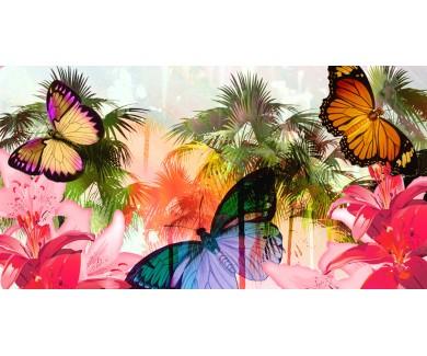 Фотообои Живописная иллюстрация тропиков