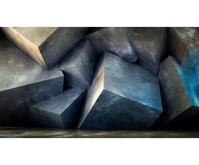 Фотообои Большие чёрные кубы