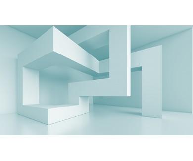 Фотообои Голубая геометрическая фигура
