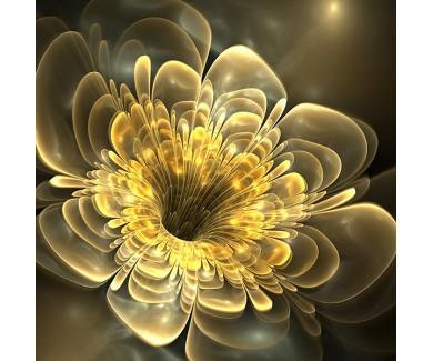 Фотообои Желтый абстрактный цветок