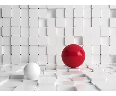 Фотообои Красный и белый шар