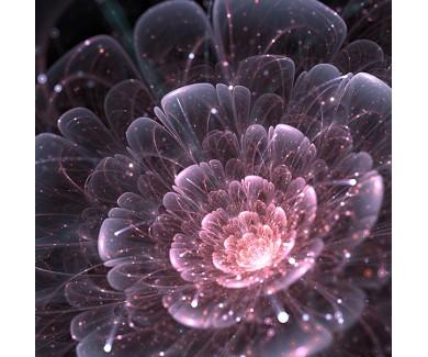 Фотообои Розовый абстрактный цветок