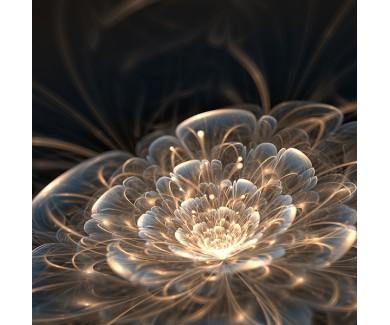 Фотообои Светящийся желтый цветок