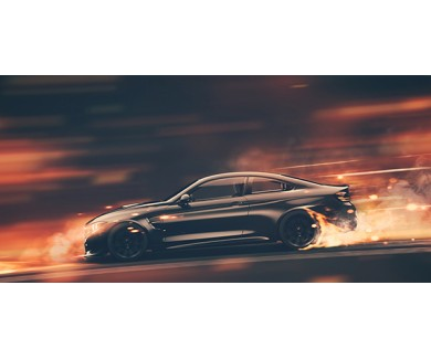 Фотообои Высокоскоростной черный спортивный автомобиль