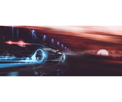 Фотообои Спортивный автомобиль на закате