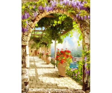 Фотообои Проулка по саду под арками