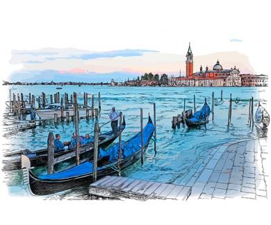 Фотообои Венеция, рисунок