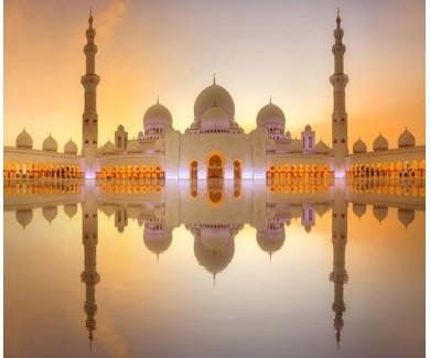 Фотообои Большая мечеть шейха Зайда на закате, Абу-Даби