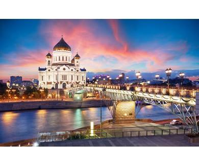 Фотообои Вид на Храм Христа Спасителя