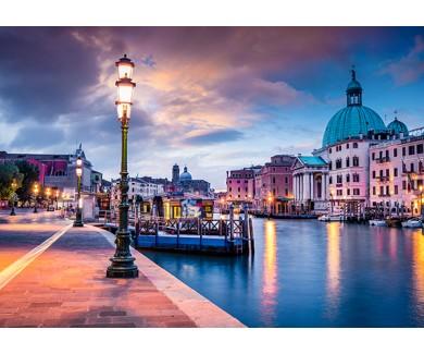 Фотообои Красочная вечерняя сцена в Италии