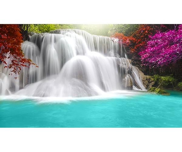 Фотообои Водопад с бирюзовой водой
