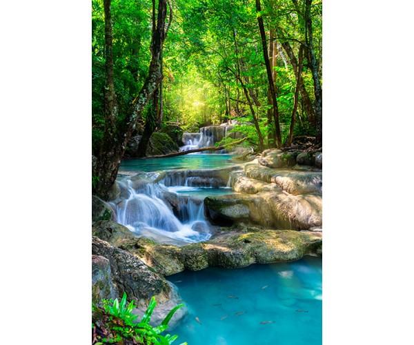 Фотообои Водопад с голубой водой