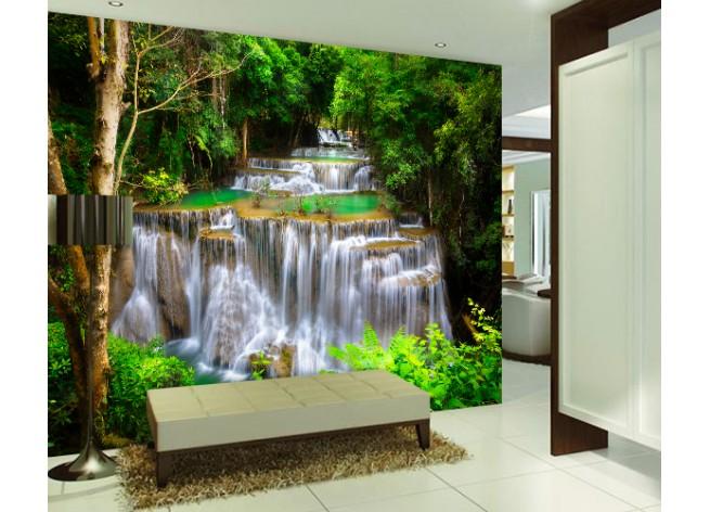 Фотообои Водопад Хуай Мае Камин, Тайланд
