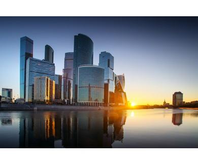 Фотообои Москва-Сити на закате