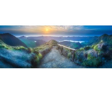 Фотообои Горный пейзаж с пешеходной тропой