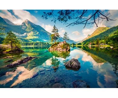Фотообои Красочный утренний вид на Австрийские Альпы