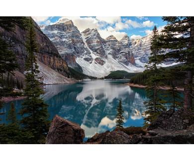 Фотообои Потрясающий вид на озеро и горы
