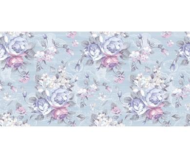 Фотообои Красивые цветы на голубом фоне