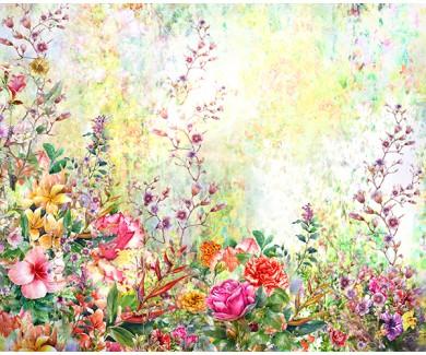 Фотообои Абстрактные цветы акварель