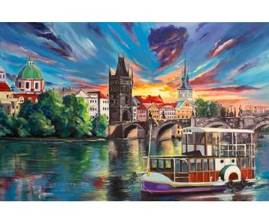 Фотообои Карлов мост в Праге, живопись
