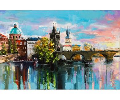 Фотообои Карлов мост через Влтаву в Праге