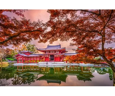Фотообои Храм Бёдо-ин в осенний сезон