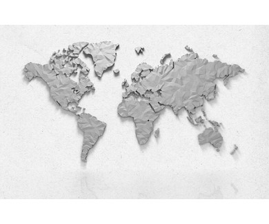 Фотообои Карта из бумаги