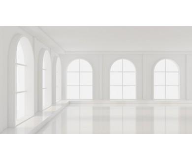 Фотообои Белая комната с окнами