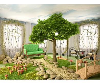 Фотообои Дерево растущее в комнате