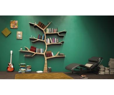 Фотообои Книжная полка в виде дерева